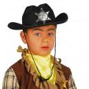 Sombrero Negro Sheriff Infantil