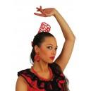 Peineta, Collar y Pendientes Andaluza Rojos